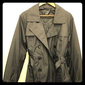 LL Bean Womens Crosstown Coat Zip-out Line XL Blue